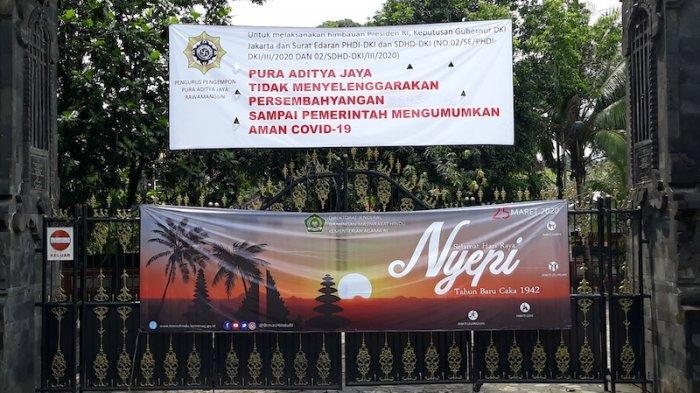 Hari Raya Nyepi, Begini Suasana Pura Aditya Jaya di Rawamangun