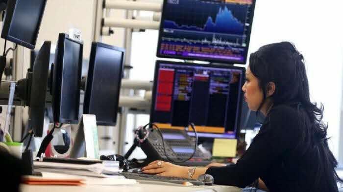 Ilustrasi pekerja di pasar saham