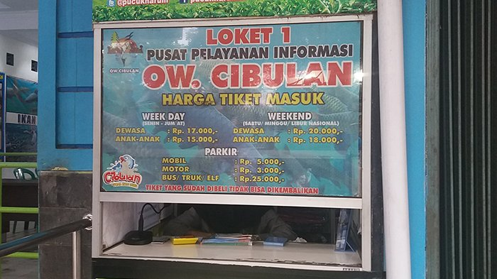 Loket Obyek Wisata Cibulan, Kabupaten Kuningan