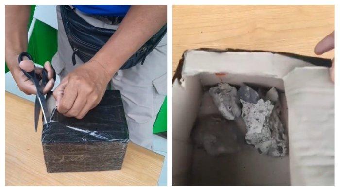 Viral Driver Ojol Kena Tipu, Sudah Bayar Rp 400 Ribu, Isi Kotak Orderan hanya Batu dan Kain Bekas