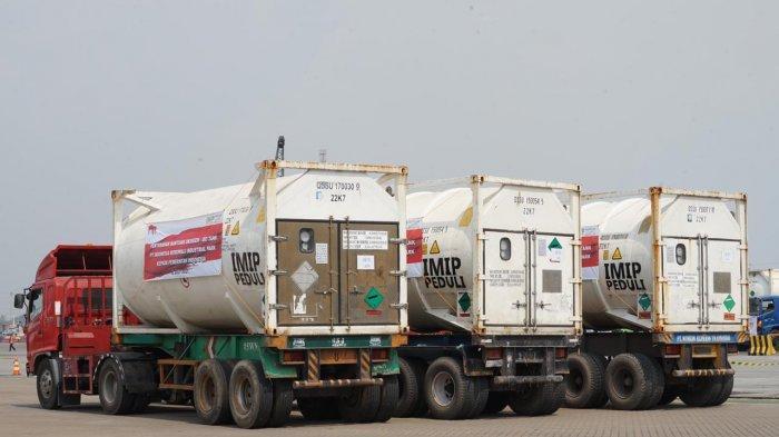 21 Unit Iso Tank Oksigen Dikirim ke Rumah Sakit Rujukan Covid-19