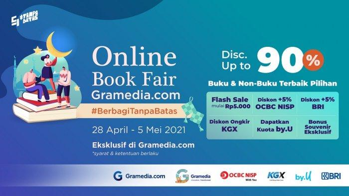 Online Book Fair Gramedia.com Tebar Diskon Hingga 90% dan Diskon Ongkir Seluruh Indonesia