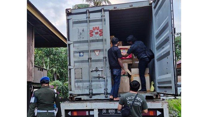 Bea Cukai Sulbagsel dan Bea Cukai Makassar Tindak Rokok Ilegal Senilai Rp2,9 Miliar