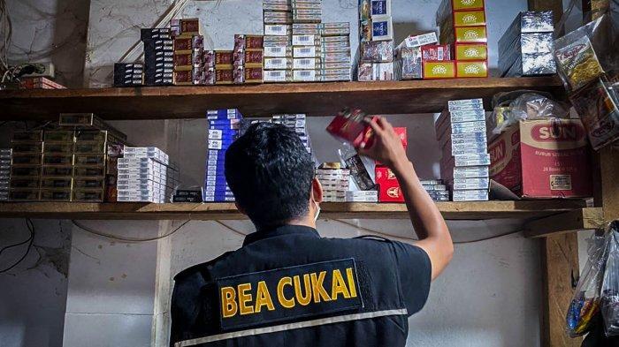 Bea Cukai Wilayah Sumatera Bagian Timur Gempur Rokok Ilegal di Tiga Provinsi