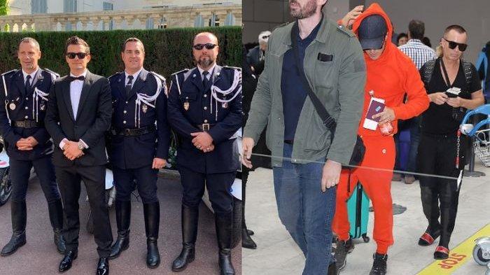 Tampil Nyentrik di Festival Film Cannes, Orlando Bloom Tak Gengsi Pakai Training Serba Oranye