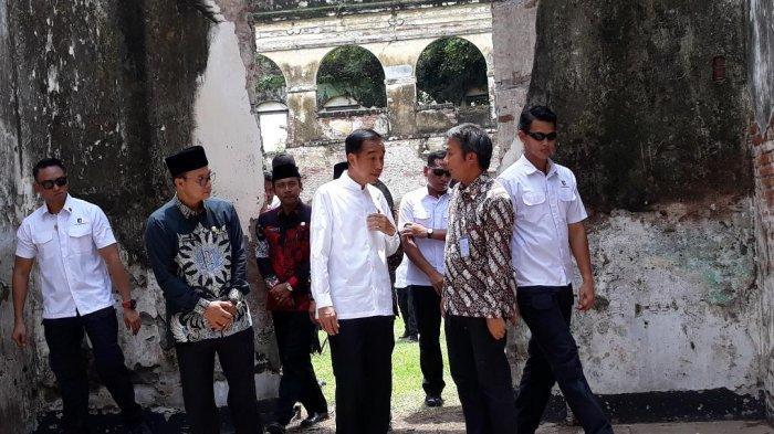Presiden Jokowi dan ibu negara Iriana, Jumat (1/2/2019) mengunjungi Benteng Pendem atau Van Den Bosch yang terletak di Kabupaten Ngawi Jawa Timur.