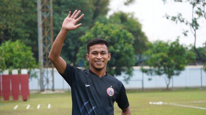 Osvaldo Haay akhirnya mengikuti latihan Persija Jakarta di Lapangan PSAU TNI AU, Halim Perdanakusuma, Jakarta Timur, Rabu (2/9/2020).