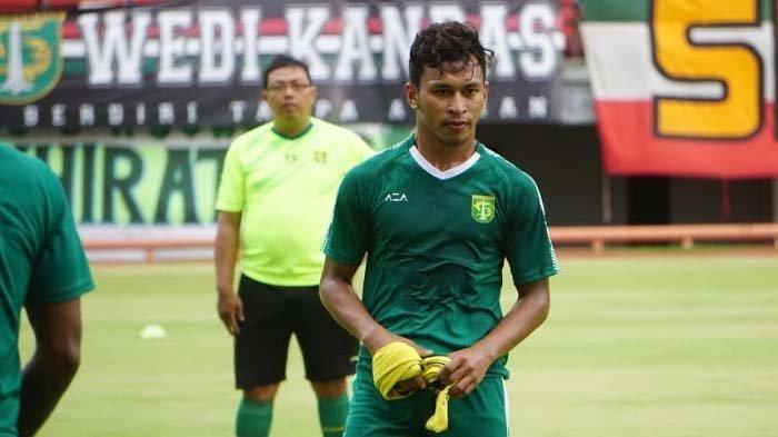 Osvaldo Haay mengikuti persiapan terakhir Persebaya melawan Persis Solo di Stadion GBT, Sabtu (10/1/2020).