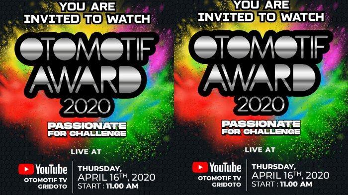 Otomotif Award 2020, Live Streaming di YouTube Otomotif TV dan GridOto, Catat Tanggalnya!