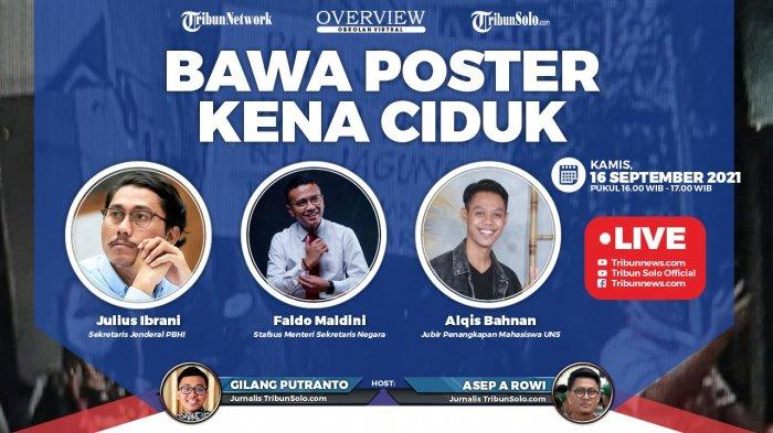 Diskusi Overview Tribunnews, Bawa Poster Kena Ciduk: Hadirkan Faldo Maldini, Mahasiswa UNS, dan PBHI
