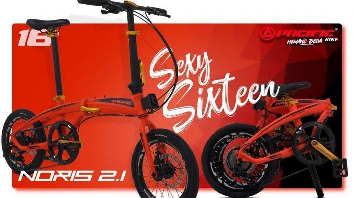 Daftar Harga Sepeda Lipat Pacific, Seli Sixteen 16 Noris 2.1 Dijual Rp 4,4 Juta