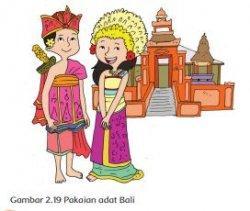 Pakaian Adat Bali, Buku Tematik Tema 7 Kelas 4 SD.