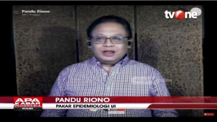 Pakar Epidemiologi Universitas Indonesia Pandu Riono di acara APA KABAR INDONESIA PAGI, Selasa (26/5/2020).