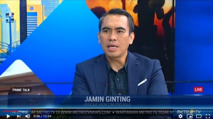 Pakar Hukum Pidana Jamin Ginting (Tangkap Layar YouTube Kompas TV)