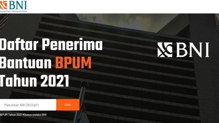 Panduan mengecek penerima BPUM di bank BNI.
