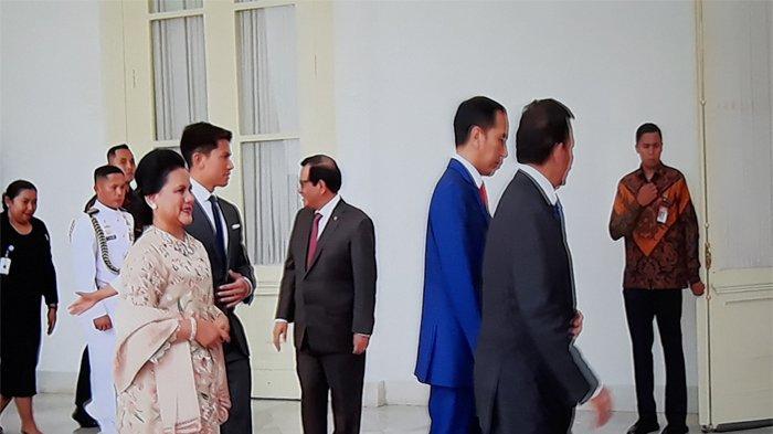 Sultan Brunei YM Sultan Hassanal Bolkiah didampingi sang anak, Pangeran Abdul Mateen memberikan ucapan selamat pada Presiden Jokowi dan Ibu Negara Iriana atas pelantikan sebagai Presiden Terpilih bersama Wapres Ma'ruf Amin, Minggu (20/10/2019).
