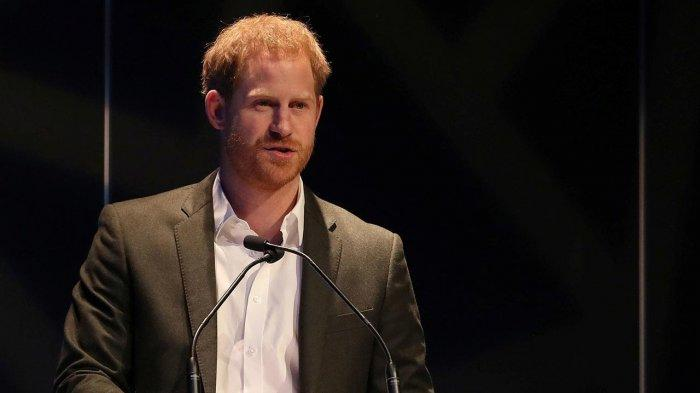 Pangeran Harry dalam acara Travalyst di Edinburgh International Conference Centre, Rabu (26/2/2020).