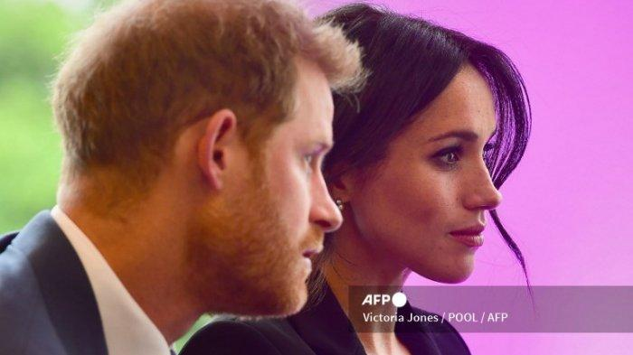 Pangeran Harry, Duke of Sussex, dan istrinya Meghan Markle, Duchess of Sussex dari Inggris menghadiri WellChild Awards di London pada 4 September 2018.