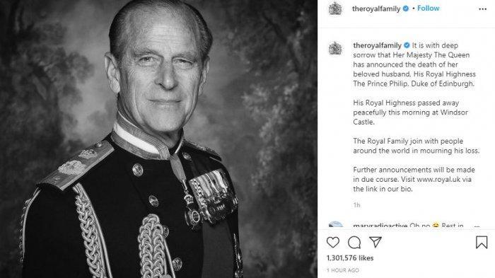 Pangeran Philip meninggal dunia
