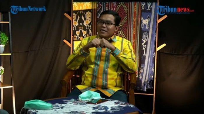 Direktur Eksekutif Voxpol Center Pangi Syarwi Chaniago saat bincang Tribun Corner, Selasa (9/3/2021)