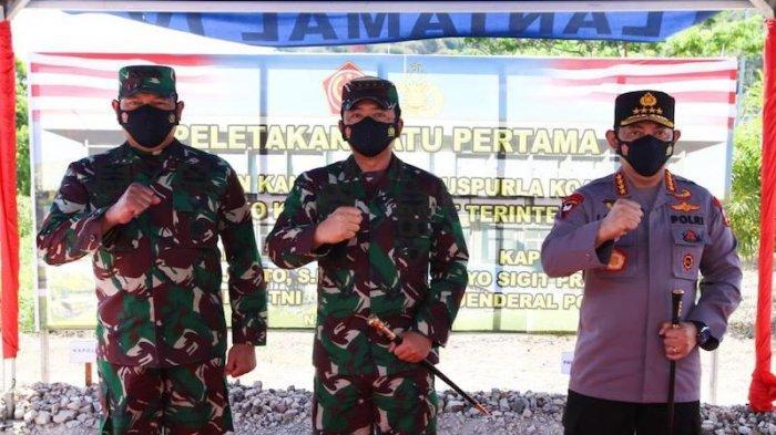Panglima TNI Resmikan Pembangunan Mako Guspurla Koarmada I di Selat Lampa Natuna