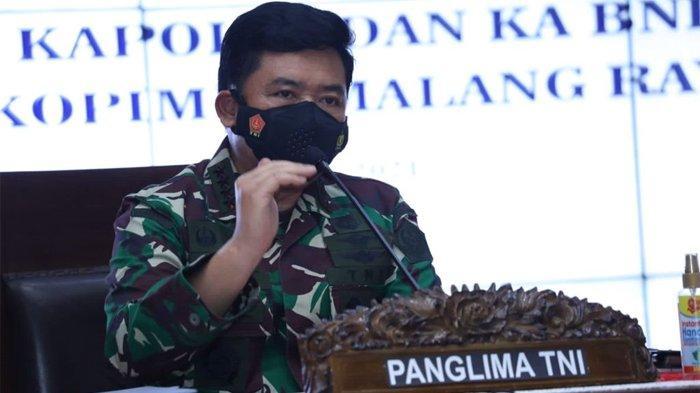 Panglima TNI Marsekal TNI Hadi Tjahjanto saat dialog Interaktif dengan Forkopimda Malang Raya di Pendopo Kabupaten Malang pada Sabtu (11/9/2021).