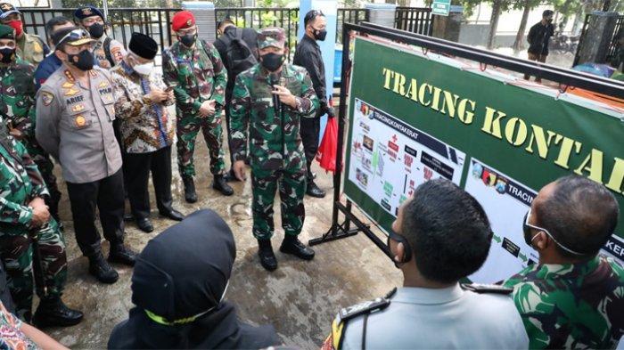 Panglima TNI Cek Kesiapan Tracer Digital Covid-19 di Sidoarjo dan Malang