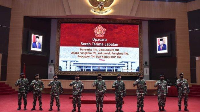 Panglima TNI Pimpin Sertijab 5 Jabatan Strategis di Lingkungan TNI