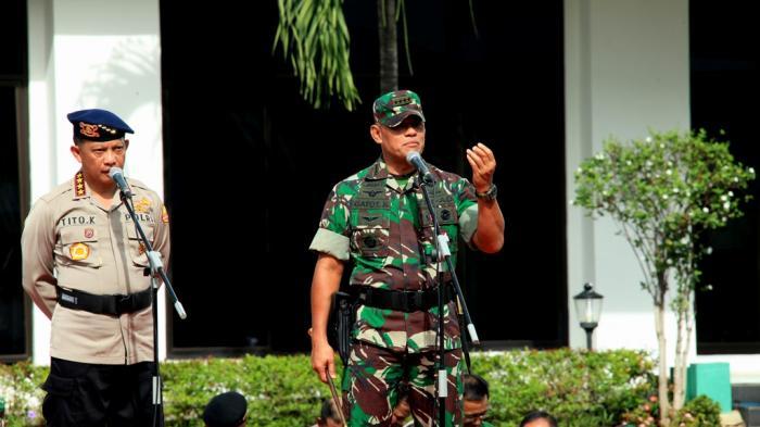 Wejangan Panglima TNI Terhadap 683 Komandan Pasukan TNI-Polri Saat Amankan Demo 4 September