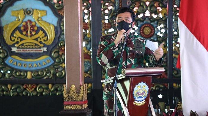 Rapat Penanganan Covid-19 di Bangkalan, Panglima TNI Tekankan Pentingnya Disiplin Protokol Kesehatan