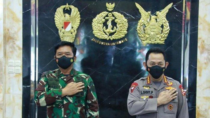 Panglima TNI Terima Kunjungan Perdana Kapolri Jenderal Listyo, Bahas Rencana Rapim TNI-Polri 2021