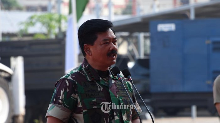 Panglima TNI, Marsekal TNI Hadi Tjahjanto.