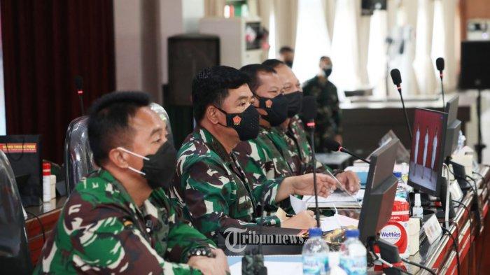 Panglima TNI Didampingi 3 Kepala Staf Angkatan Pimpin Sidang Pantukhir Terpusat Akademi TNI 2021