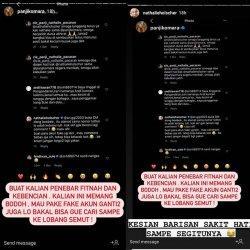 Panji Komara dan Nathalie Holscher komentari warganet yang menuduh mereka berselingkuh
