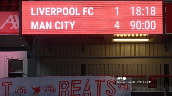 Fakta Menarik Hasil Liga Inggris Liverpool vs Man City, Anfield Tersakiti, Pep si Raja Kemenangan
