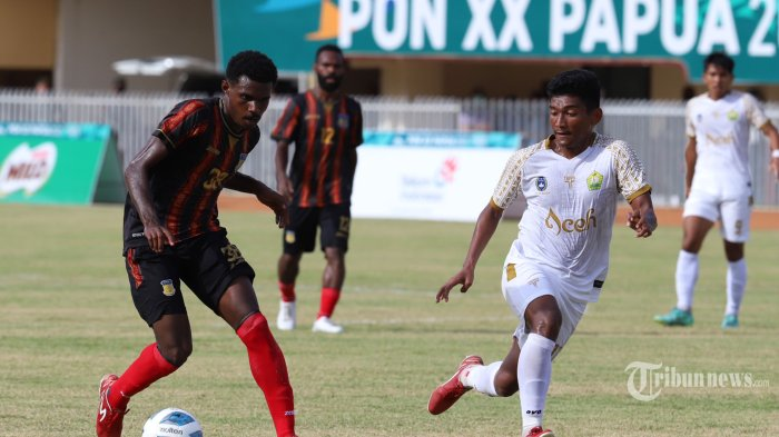 Hasil Sepak Bola Putra PON Papua 2021: Tuan Rumah Raih Medali Emas, Aceh Perak, Jatim Perunggu