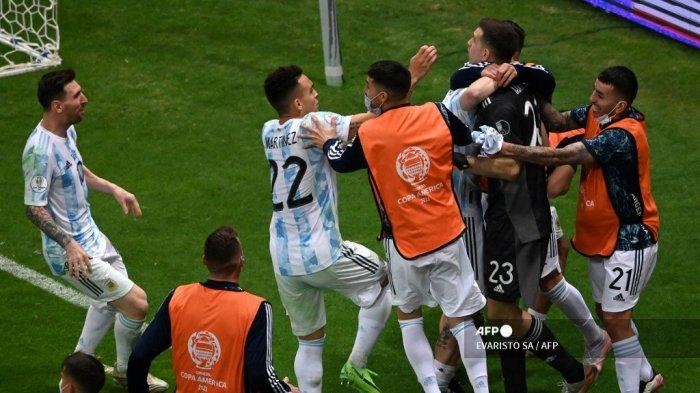 Final Copa America <a href='https://manado.tribunnews.com/tag/argentina' title='Argentina'>Argentina</a> vs <a href='https://manado.tribunnews.com/tag/brasil' title='Brasil'>Brasil</a>, Emiliano Martinez: Kami Akan Menang