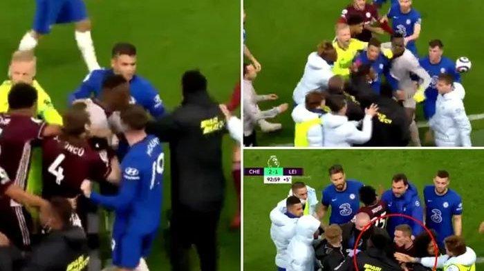Momen Pemain Chelsea Hilang Kendali dan Mengamuk Saat Bek Leicester Penghina Logo Klub Ikut Campur