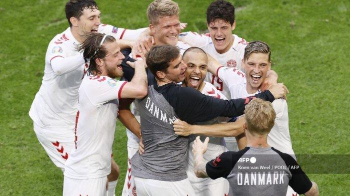 Nyaris Tersingkir, Denmark Ukir Rekor Istimewa Seusai Libas Wales 4-0 di 16 besar EURO 2020