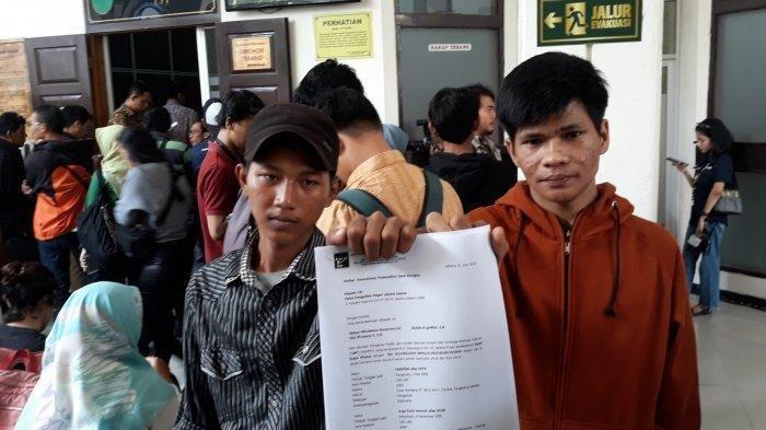 Dua pengamen yang merupakan korban salah tangkap melapor ke PN Jaksel pada Rabu (17/7/2019)