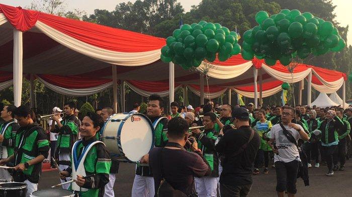 Tiga Maskot Sampai Perusahaan Ojol Ikut Parade 100 Hari Jelang Asian Games 2018