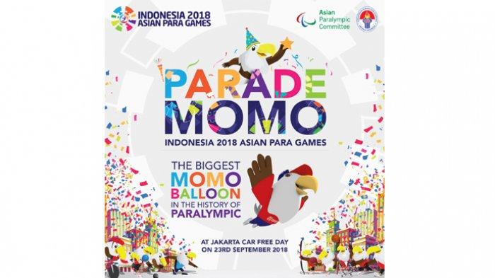 Balon Maskot Raksasa Terbesar dalam Sejarah Akan Hadir di Parade Momo Asian Para Games 2018