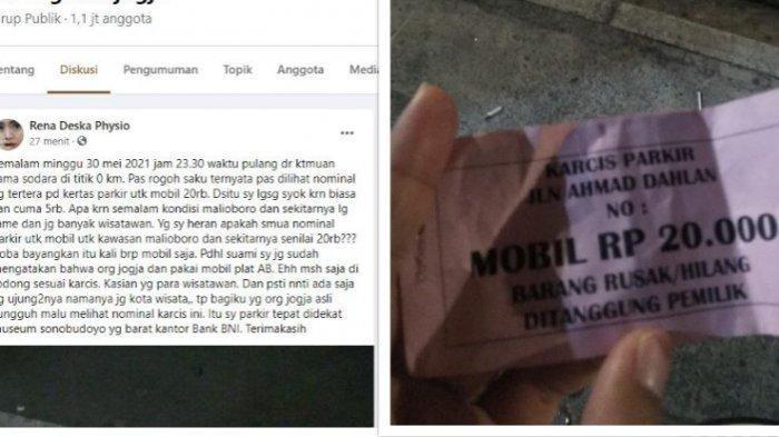 Parkir Dekat Malioboro Rp 20 Ribu, Netizen Tanyakan Tulisan Barang Rusak/Hilang Ditanggung Pemilik