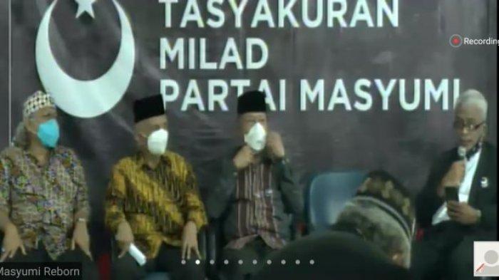 Partai Masyumi resmi kembali dideklarasikan, Sabtu (7/11/2020), acara deklarasi dilakukan secara virtual.