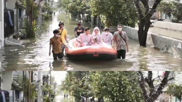 Cerita Pengantin Baru di Bekasi, Terpaksa Gelar Resepsi di Tengah Banjir