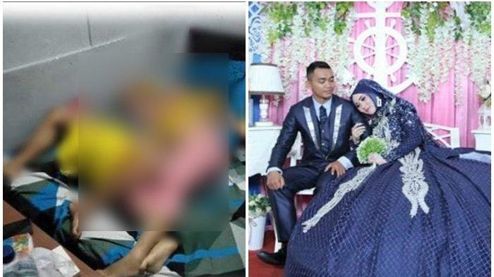 Gung Akbar dan Rosna Sartika Kandong semasa hidup dan jasadnya saat ditemukan di indekos.