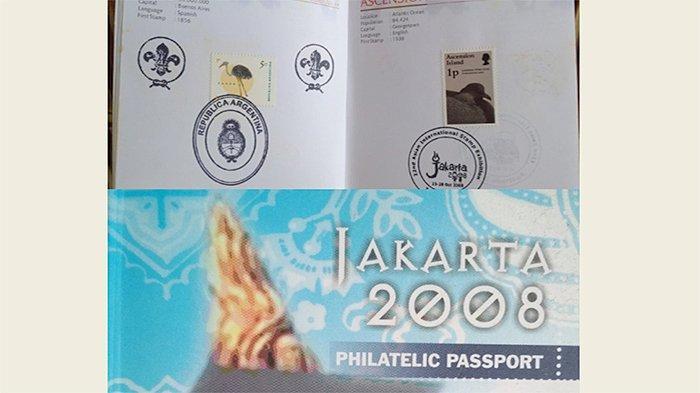 Paspor filateli dari Pameran Internasional  Jakarta 2008.