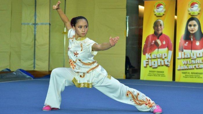 Tim Wushu DKI Jakarta Jawara di Hari Pertama Sirkuit Nasional Wushu Taulo Seri II/2021