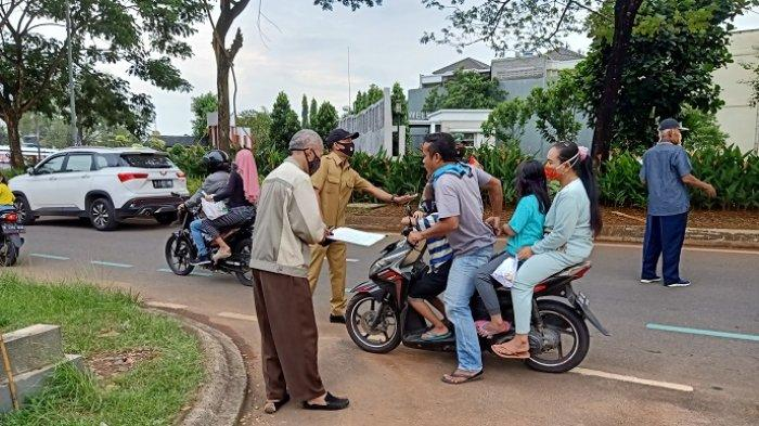 Banyak Warga Masih Bandel Keluar Rumah Tanpa Masker, Kelurahan Medang Lestari Rutin Gelar Razia
