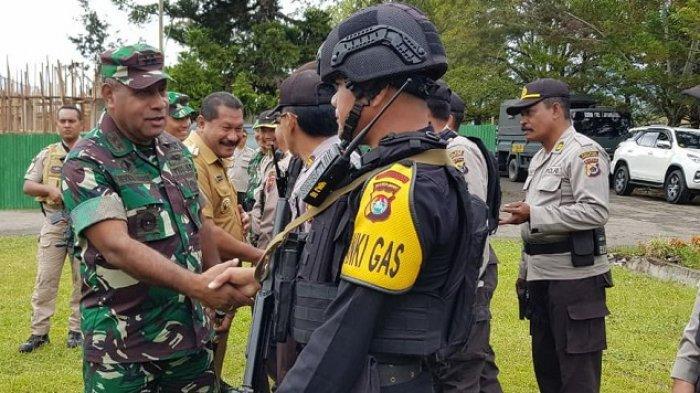 Jaga Situasi Wamena Kondusif, TNI-Polri Gelar Apel Gabungan